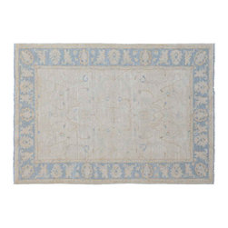 White Wash Oriental Rug, 5X8 Hand Knotted 100% Wool Sultanabad Area Rug SH11211 - Hand Knotted Oushak & Peshawar Rugs are highly demanded by interior designers.  They are known for their soft & subtle appearance.  They are composed of 100% hand spun wool as well as natural & vegetable dyes. The whole color concept of these rugs is earth tones.