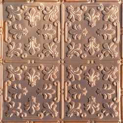 "Decorative Ceiling Tiles - Venetian Holiday - Copper Ceiling Tile - 24""x24"" - #1206 - Find copper, tin, aluminum and more styles of real metal ceiling tiles at affordable prices . We carry a huge selection and are always adding new style to our inventory."