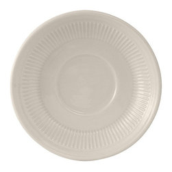Tuxton - Hampshire 5 1/2 inch Saucer Embossed in American White - Case of 36 - Strength and balance create the Hampshire collection. Strong lines with a balance of tradition and beauty give this collection versatility and value.