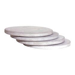 "CFAB STUDIOS - Concrete Coaster Water Absorbing 3"" Stone MA-RE-CON ULTRA FINO Forever series, S - FREE SHIPPING!"
