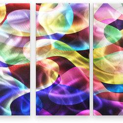 Matthew's Art Gallery - Metal Wall Art Abstract Modern Handmade Colorful Fantasy - Name: Colorful Fantasy