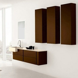 "Soho Modern Bathroom Vanity Set 55.1"" - The Soho is a contemporary bathroom vanity set that embraces the latest trend in luxury modern bathroom design."