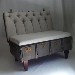 Suitcase Chair - When you come back to rest from your world travels, how about sinking into this vintage trunk repurposed into a cushy chair?