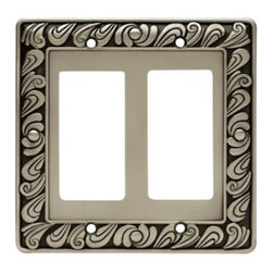 Liberty Hardware - Liberty Hardware 64037 Paisley WP Collection 4.96 Inch Switch Plate - The Paisley design adds a glamorous feel to every room with its tear drop design. The pewter finish brings distinguished style and old world feel to any room. Fasteners are included and sized to fit standard electrical boxes. This family is available in the 10 most popular wall plate configurations. Width - 4.96 Inch, Height - 4.9 Inch, Projection - 0.3 Inch, Finish - Brushed Satin Pewter, Weight - 0.41 Lbs.