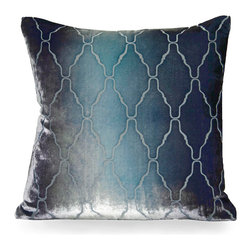 Arches Pillow - Dusk - Soft and dreamy to the touch with a shimmering tone that beautifully showcases the rich Dusk color perfectly, the Arches Pillow showcases a classically gorgeous patterning that is subtle yet stunning. Bring a pair of the Arches Pillows into your home and showcase the pattern of the season. Change the look of any space with minimal effort by switching out your decorative pillows with one of these gorgeous options.