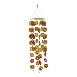 Paisley Capiz Seashell Wind Chime