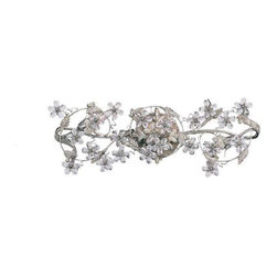 Crystorama Lighting - Crystorama Lighting 5304-AW Abbie Eclectic Sconce in Antique White - Crystorama Lighting 5304-AW Abbie Eclectic Sconce In Antique White With Clear Hand Cut Crystal