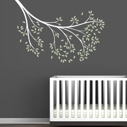 Littlelion Studio Blossom Reaching Branch Wall Decal - Littlelion Studio Blossom Reaching Branch Wall Decal