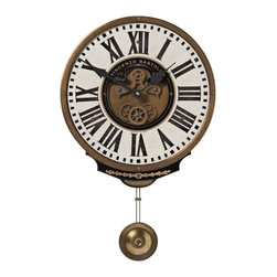 Timeworks by Uttermost - Vincenzo Bartolini Clock - Bartolini Wall Clock is beautifully crafted open gears clock
