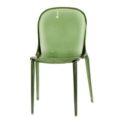 Thalya Chair, Set of 2, Transparent Forest Green