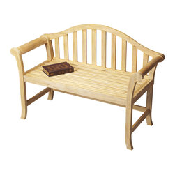Butler Furniture - Windsor Style Natural Wood Bench - Add clean, contemporary style to any space with this arched back Windsor-inspired bench. Expertly crafted from solid mindy hardwood in a rich Cinnamon finish, it is a great addition to an entryway, hallway, dining room or wherever extra seating is needed.