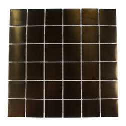 Sample - Metal Copper Stainless Steel 2x2 Tiles Sample - sample-METAL COPPER STAINLESS STEEL 2X2 TILES SAMPLE  SAMPLE   Samples are intended for color comparison purposes, not installation purposes.-Glass Tiles -