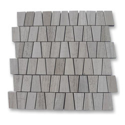 "Relic Gray Wood Marble Tile - Relic Gray Wood Marble Tile This marble mosaic will provide endless design possibilities from contemporary to classic. It creates a great focal point to suit a variety of settings. Color: Gray Material: Gray Wood Finish: Polished Sold by the Sheet- each sheet measures 12""x12"" (1 sq.ft.) Thickness: 10 mm"