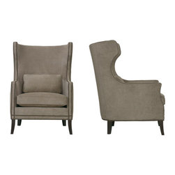Kingston Chair - This one is a modern twist on a traditional wing chair. The parallel piping is beautiful.