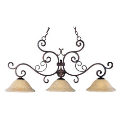 Maxim Lighting - Maxim Lighting 20637VAOI Verona Oil Rubbed Bronze Island Light - 3 Bulbs, Bulb Type: 100 Watt Incandescent