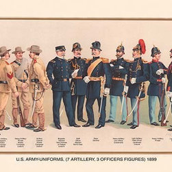 """Buyenlarge.com, Inc. - Uniforms (7 Artillery, 3 Officers), 1899- Paper Poster 20"""" x 30"""" - Another high quality vintage art reproduction by Buyenlarge. One of many rare and wonderful images brought forward in time. I hope they bring you pleasure each and every time you look at them."""