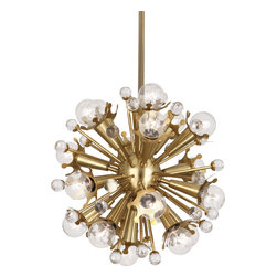 Robert Abbey - Jonathan Adler Sputnik Pendant, Antique Brass - If you love great design, you'll go nuts over this crazy pendant lamp. Hang it over an antique dining table to switch things up a bit, or let it top off a midcentury modern room.