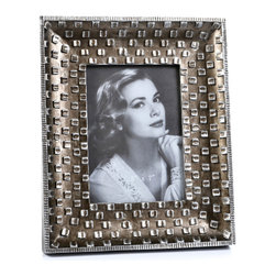 "Concepts Life - Concepts Life Photo Frame  Silver Pebble  5x7"" - Emulating a fine piece of jewelry, our Silver Pebble frame will add texture and depth to your photographs, making them the centerpiece of your photo collections.  Modern home accent Contemporary silver picture frame Beautiful and elegant home accent Rectangular photo frame Made of polyresin Textured finish Easel back for horizontal or vertical display Various sizes available Holds 5 x 7 in. size photo Dimensions: 9""w x 11""h x 1""d Weight: 2 lbs"