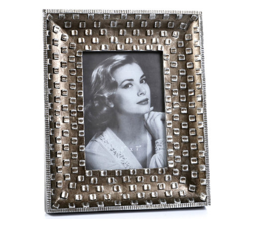 """Concepts Life - Concepts Life Photo Frame  Silver Pebble  5x7"""" - Emulating a fine piece of jewelry, our Silver Pebble frame will add texture and depth to your photographs, making them the centerpiece of your photo collections.  Modern home accent Contemporary silver picture frame Beautiful and elegant home accent Rectangular photo frame Made of polyresin Textured finish Easel back for horizontal or vertical display Various sizes available Holds 5 x 7 in. size photo Dimensions: 9""""w x 11""""h x 1""""d Weight: 2 lbs"""