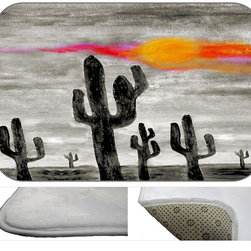 Night In The Desert Plush Bath Mat, 20X15 - Bath mats from my original art and designs. Super soft plush fabric with a non skid backing. Eco friendly water base dyes that will not fade or alter the texture of the fabric. Washable 100 % polyester and mold resistant. Great for the bath room or anywhere in the home. At 1/2 inch thick our mats are softer and more plush than the typical comfort mats.Your toes will love you.