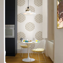 """Zoe Dots Set of Wall Decals - Retro and chic! The Zoe Dot is sophisticated with a quiet elegance. This pack contains sixteen 13"""" Zoe Dots. WallPops are repositionable and always removable."""