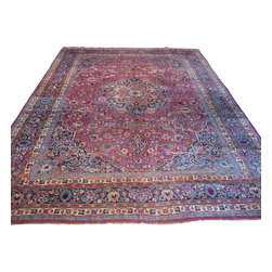 10'3 x 13'5 Antique Mashad Rug - Oriental rugs are famously known to gain more value over time. An authentic Antique or Semi-Antique rug is not only an instant centerpiece in any setting, but is a wonderful investment which only increases over the years. This collection features rare and valuable authentic hand-knotted area rugs from all over the world at exclusive discount prices.