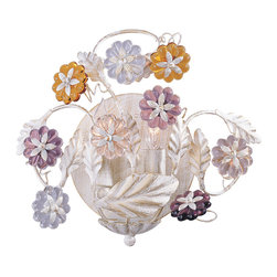 Crystorama - Crystorama 5312-AW Retro 2 Light Wall Sconces in Antique White - Retro Collection offers casual yet elegant, whimsical and chandeliers, wall sconces, and ceiling mounts with multi colored rosettes.