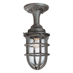 Troy Lighting - Troy Lighting C1863 Wilmington 1 Light Semi-Flush Ceiling Fixture - Troy Lighting Traditional / Classic 60 W Incandescent Semi-Flush Ceiling Fixture from the Wilmington Series