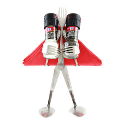 Forked Up Art - Table Topper Grinder - Fork - When when you need an elite setup, this is the guy for the job. He holds 2 - McCormick grinders that are included, and seats about 30 party napkins(not included) in the back. A great conversation piece for any get-together.