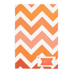Ruff House Art - Chevron Stripes Notepad, Chevron Stripes - Chevron Stripes are all the rage right now and in this gorgeous ombre of pinks & oranges, this notepad makes the perfect addition to your desk, home or bag.