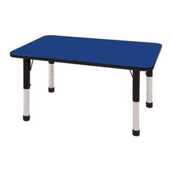 ECR4KIDS - ECR4KIDS 30 x 48 in. Black Band Rectangular Adjustable Activity Table - Chunky L - Shop for Childrens Tables from Hayneedle.com! About Early Childhood ResourcesEarly Childhood Resources is a wholesale manufacturer of early childhood and educational products. It is committed to developing and distributing only the highest-quality products ensuring that these products represent the maximum value in the marketplace. Combining its responsibility to the community and its desire to be environmentally conscious Early Childhood Resources has eliminated almost all of its cardboard waste by implementing commercial Cardboard Shredding equipment in its facilities. You can be assured of maximum value with Early Childhood Resources.