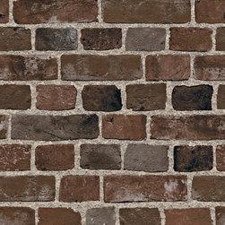 Brown & Black Brick Wallpaper - Brown and black wallpaper. BC1581946