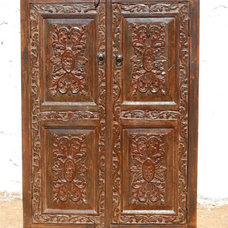 Traditional Armoires And Wardrobes Solid Wood Carved Storage Armoire Wardrobe