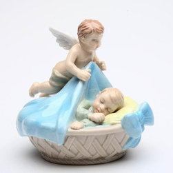 CG - 3.25 Inch Ceramic Miniature Figurine Baby Boy Statue with Blanket - This gorgeous 3.25 Inch Ceramic Miniature Figurine Baby Boy Statue with Blanket has the finest details and highest quality you will find anywhere! 3.25 Inch Ceramic Miniature Figurine Baby Boy Statue with Blanket is truly remarkable.