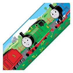 Store51 LLC - Thomas Train Engine Friends Set of 4 Self-Stick Wall Borders - Features:
