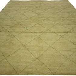 Manhattan Rugs - New Diamond Hand Knotted Moroccan Berber 8'x10' Modern Soft Plush Wool Rug H3648 - This Is a True Hand Knotted Oriental Rug. It Is Not Hand Tufted with Backing, Not Hooked or Machine Made. Our Entire Inventory Is Made of Hand Knotted Rugs. (All We Do Is Hand Knotted)