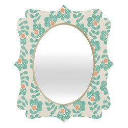 DENY Designs - Wendy Kendall Lovisa Aqua Quatrefoil Mirror - Mirror, mirror on the wall. Who's the fairest one of all? We'll that's easy, the quatrefoil mirror collection, of course! With a sleek mix of baltic birch ply trim that's unique to each piece and a glossy aluminum frame, the rectangular mirror makes you feel oh so pretty every time you catch a glimpse. Custom made in the USA for every order.