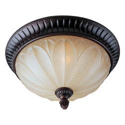 Maxim Lighting - Maxim Lighting 13500WSOI Allentown Oil Rubbed Bronze Flush Mount - 2 Bulbs, Bulb Type: 60 Watt Incandescent