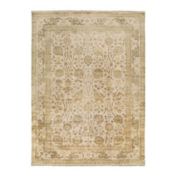 """Surya - Traditional Antolya Sample 1'6""""x1'6"""" Sample Taupe-Mushroom  Area Rug - The Antolya area rug Collection offers an affordable assortment of Traditional stylings. Antolya features a blend of natural Taupe-Mushroom  color. Hand Knotted of 100% Semi-Worsted New Zealand Wool the Antolya Collection is an intriguing compliment to any decor."""
