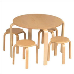 Guidecraft Natural Nordic Kids' Table and Chair Set - I love this modern Nordic kids table and chairs set from Wal-Mart (gasp).  It's cool and the price can't be beat.
