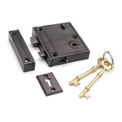 Restorers 2 3/8 Inch Backset Rim Lock - If you have ever needed a door rimlock in an odd size you know how difficult it can be to find. We have taken original examples of these hard to find locks and had them authentically re-created to exact standards.