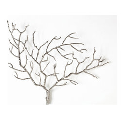 "Arteriors - Arteriors Home - Edwin Tree Wall Sculpture - 2625 - Tree branch wall sculpture crafted of steel with a polished nickel finish. Hang alone or group with another. Features: Edwin Collection Tree Wall SculpturePolished Nickel FinishHang alone or group with another Some Assembly Required. Dimensions: H: 22"" x W: 28"" x D: 2.5"""