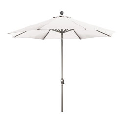 Phat Tommy - 9 Ft. Market Patio Umbrella in White - Eight aluminum ribs