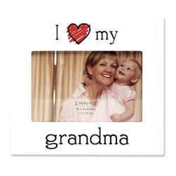 """Lawrence Frames - 6x4 """"I Love my Grandma"""" Picture Frame - What better way to show off that great photo of your precious baby than with this high quality picture frame!  Beautifully finished with a colorful heart and heartfelt message.  Finished with a high quality black masonite backing for tabletop display.  This frame comes with glass to protect your photo, and is Individually boxed."""