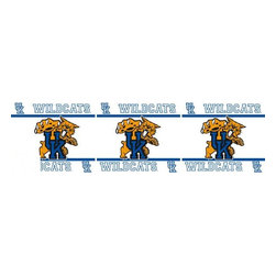 Sports Coverage - NCAA Kentucky Wildcats Self Stick Wall Border - It's so quick and amazing, just peel and stick! Self-stick, removable, and reusable NCAA Kentucky Wildcats Wall Borders are the easy way to decorate and won't damage walls! Peel and Stick technology will adhere to any smooth surface. Washable and dry strippable. Colorful graphics are printed on durable, tear-resistant vinyl wall border in the repeating pattern shown. Size: 5 x 15' long per package. It's so quick and amazing, just peel and stick! Installation has never been so easy!