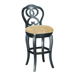 Hammary - Hammary T73185-22 Hidden Treasures Barstool in Black - The Hidden Treasures collection is a fabulous assortment of one-of-a-kind accent pieces inspired by the greatest furniture designs from around the world. Each selection is a true treasure - rich in old world icons and traditions. All the pieces in this collection are crafted with attention to every detail. From brass nailhead trim and exquisite hand-painting to elegant shaping and decorative trim, every item is a unique work of art. A wide variety of materials is used to create the perfect look and finest quality - from exotic woods, leather and stone to raffia and glass. The huge selection of finishes, hardware, exceptional carvings and other final touches offer unsurpassed versatility for any room in the home. Hidden Treasures includes cocktail tables, occasional and accent pieces, trunks, chests, consoles, wine racks, desks, entertainment units and interesting storage pieces. Place one in a comfortable reading nook... In the family room for flair and variety... In the foyer for a welcome look... In a bedroom for cozy style... Or in the office for function and versatility. The pieces in this collection mix beautifully with any decorating style and will easily become the focal point in any setting.