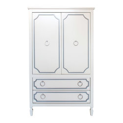 Newport Cottages - Beverly Armoire - Do you need a more storage space and organization in your bedroom (or any other room in the house)? An armoire is the perfect solution, especially when it features the Beverly Collection's classic Hollywood good looks and style.