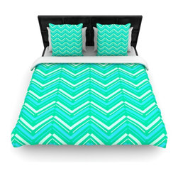 "Kess InHouse - CarolLynn Tice ""Symetrical"" Teal Turquoise Cotton Duvet Cover (Twin, 68"" x 88"") - Rest in comfort among this artistically inclined cotton blend duvet cover. This duvet cover is as light as a feather! You will be sure to be the envy of all of your guests with this aesthetically pleasing duvet. We highly recommend washing this as many times as you like as this material will not fade or lose comfort. Cotton blended, this duvet cover is not only beautiful and artistic but can be used year round with a duvet insert! Add our cotton shams to make your bed complete and looking stylish and artistic!"