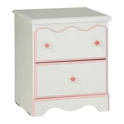 Standard Furniture - Standard Furniture Bubblegum 2-Drawer Nightstand in White and Pink - Bubblegum bedroom is adorably cute and charmingly sweet, and is lavished with lots of girlie-girl details.