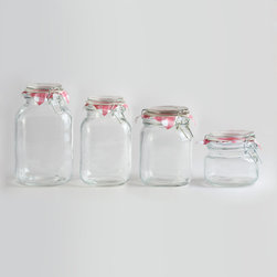 Round Glass Jars With Clamp Lid - You can never ever have too many clamp jars. They're perfect for leftovers, juices, dry goods and spices.